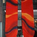 ©2011 Kristen Gilje Philadelphia Red Season,16 feet by 4 feet each, hand painted silk dye on silk