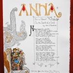 Anna Illuminated page
