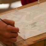 student Olga's delicate work