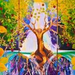 ©1999 Kristen Gilje Tree of Life, 8 feet by 12 feet, acrylic on panel