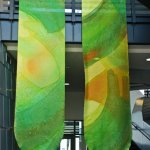 ©2011 Kristen Gilje Philadelphia Green Season,16 feet by 4 feet each, hand painted silk
