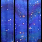 Kristen Gilje, Stars over Copper Basin, hand painted silk, 9 ft. x 55 in., 2002