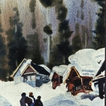 Kristen Gilje,Homeward Bound, watercolor 13x7.5 inches
