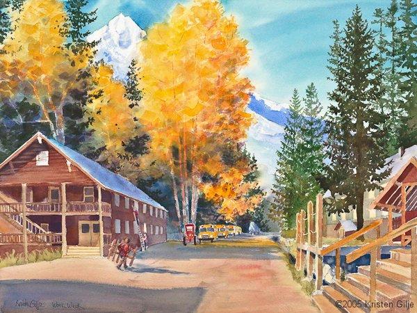 Kristen Gilje, Fall Work Week, watercolor 30x22 inches.