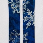 ©Kristen Gilje Nathan's Advent Snowflake Stole, hand painted silk