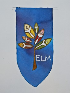 ELM watercolor sketch