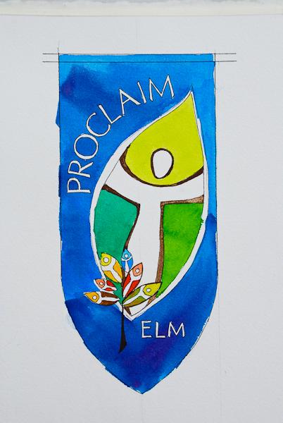 Proclaim ELM watercolor sketch