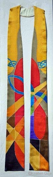 ©Kristen Gilje, St. Andrews Stole, hand painted silk.